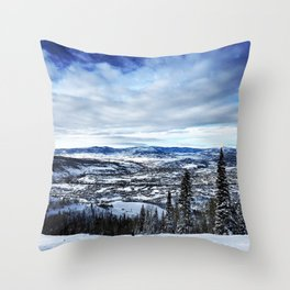 Bluebird Day Throw Pillow