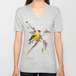 American Goldfinch Unisex V-Neck