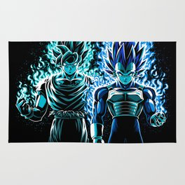 Blue God Warriors Rug