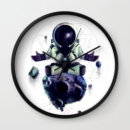 Moon Rock Wall Clock