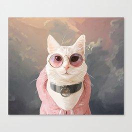 Fashion Portrait Cat Canvas Print