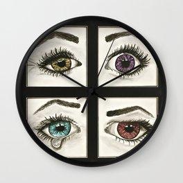 Eyes Show Emotions Wall Clock