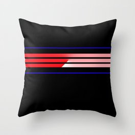 Team Colors 5...Red,blue Throw Pillow