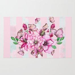 Pretty Pink Flutterbies Rug
