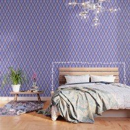 Blue, pink tartan plaid. Wallpaper