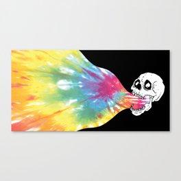 Tie-Die Vomit Canvas Print