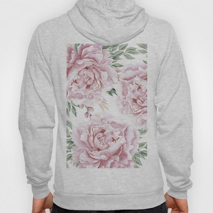 Beautiful Pink Roses Garden Hoody