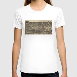 Bird's Eye View of St. Louis, Missouri (1876) T-shirt