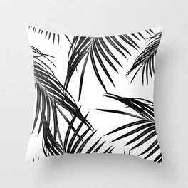 Black Palm Leaves Dream #1 #tropical #decor #art #society6 Throw Pillow