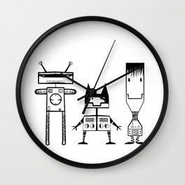 Tree Robots Wall Clock
