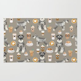 Schnauzer coffee dog breed pet art pure breed cafes pupuccino Rug