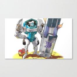 Bomb Disposal Tailgate Canvas Print