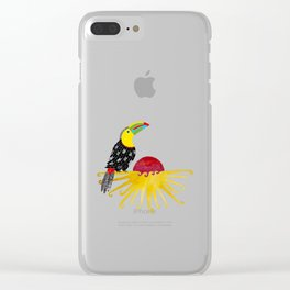 Toucan in the sun Clear iPhone Case