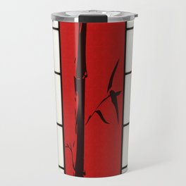 Shoji with bamboo ink painting Travel Mug