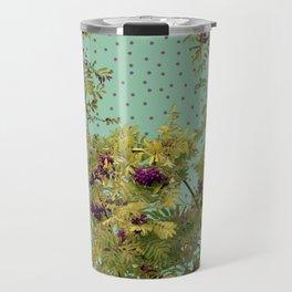 Rowan tree and purple polka dots Travel Mug