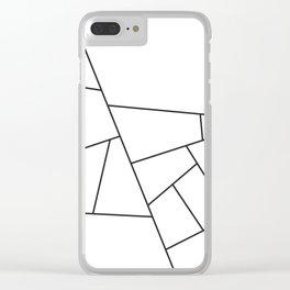 Modern Geometric 57 Clear iPhone Case