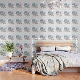 Pretty Pastel Succulents Wallpaper