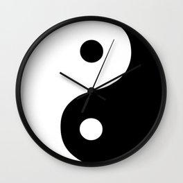 Yin Yang Black White Wall Clock