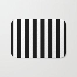 Classic Black and White Football / Soccer Referee Stripes Bath Mat