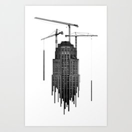 new york empire state building _ new architectural metabolism Art Print