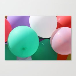 Bunch of Colored Balloons Canvas Print