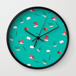Teal Whale Shark and Shark Wall Clock