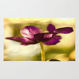 Glowing Purple Flower #decor #buyart #society6 Rug