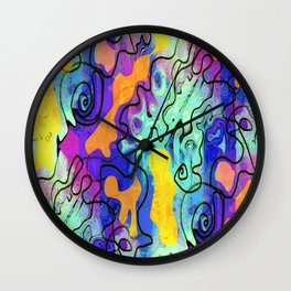 Refective Doodle Wall Clock
