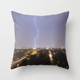 City Lightning. Throw Pillow
