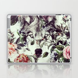 Floral Wolf Laptop & iPad Skin