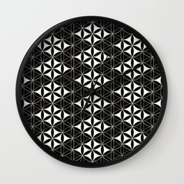 Flower of Life Pattern 12 Wall Clock
