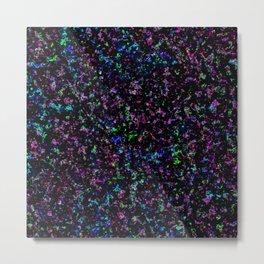 Black Light Color Spray Metal Print