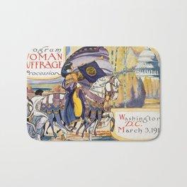 Vintage Women's Suffrage Poster, 1913 Bath Mat