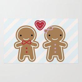 Cookie Cute Gingerbread Couple Rug