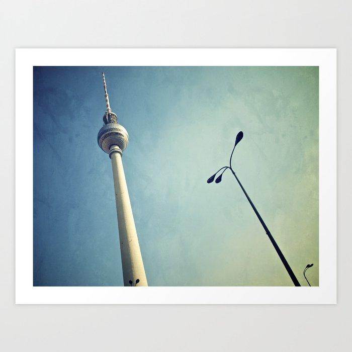 Berlin Television Tower Art Print