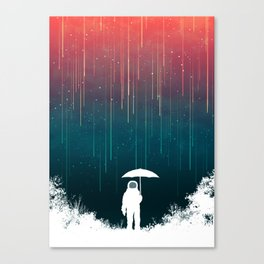Meteoric rainfall Canvas Print