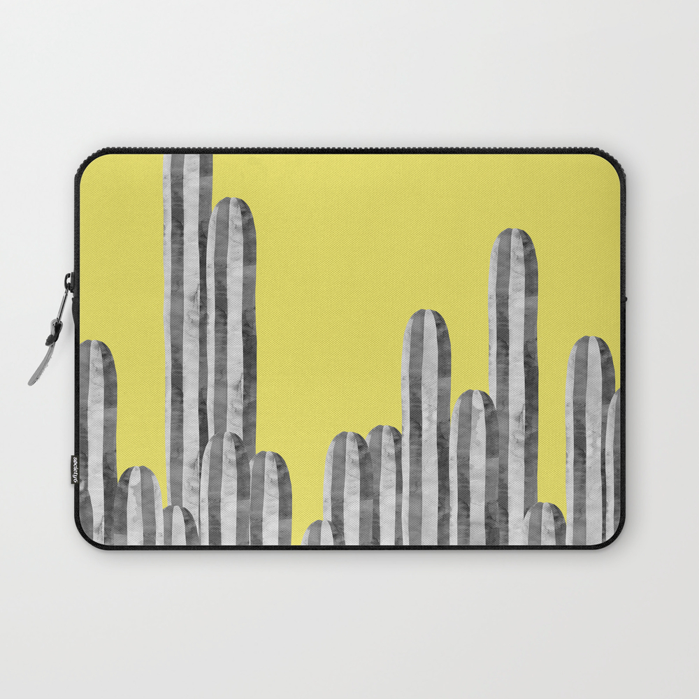 Cacti On Yellow Background Laptop Sleeve LSV8958832