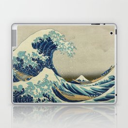 The Classic Japanese Great Wave off Kanagawa Print by Hokusai Laptop & iPad Skin