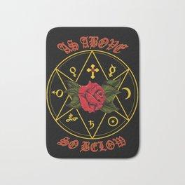 As Above So Below, Alchemy, Rose Cross Bath Mat