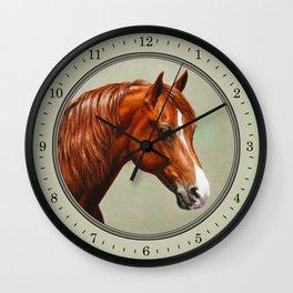 Chestnut Morgan Horse Wall Clock