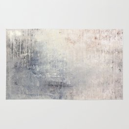 """1198 abstract beige/silver wall"" Rug"