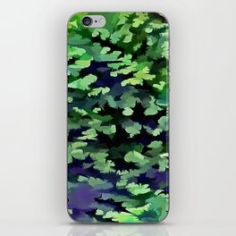 Foliage Abstract Camouflage In Forest Green and Black iPhone Skin