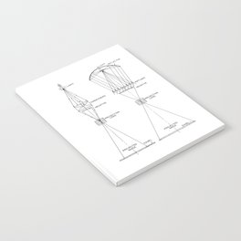 Vintage Line Drawing on Photographic Enlargers Notebook
