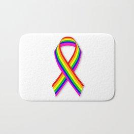 LGBT Awareness Ribbon Bath Mat