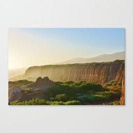 Beach Cliffs in the Clouds Canvas Print