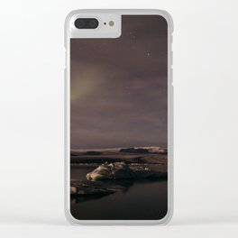 Glacier Lagoon By Night Clear iPhone Case