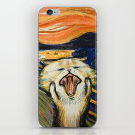 The Scream: Cat version iPhone Skin