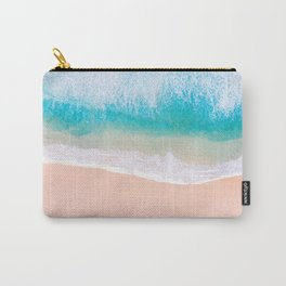 Ocean in Millennial Pink Carry-All Pouch