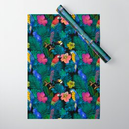 Tropical Birds and Botanicals Wrapping Paper