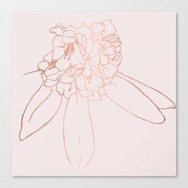Rose gold blossom Canvas Print